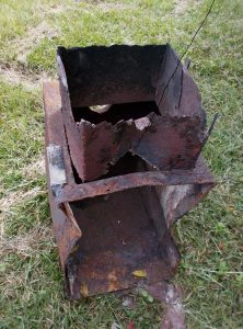 Sorry remains of firebox