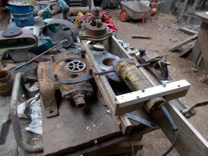 Jig for machining ram pump